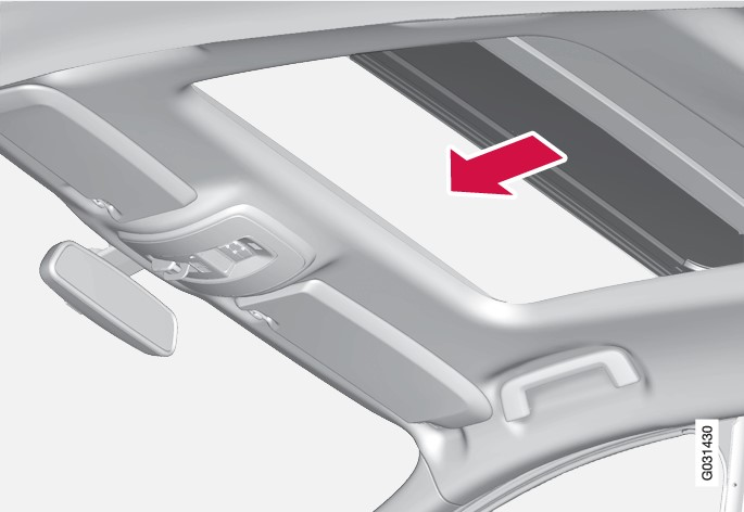 P3-0835 XC60 Panorama roof from inside