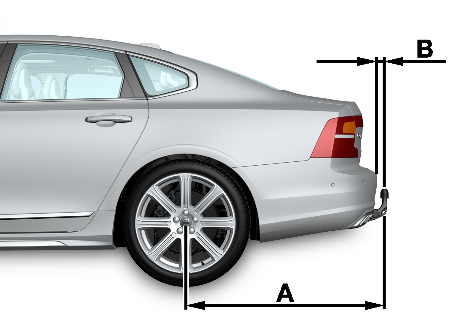 P5-1617-S90-towbar specifikation side view