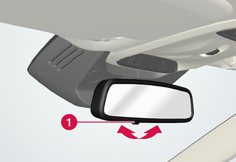 P5-1507 Interior rear view mirror