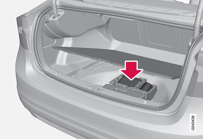 P3-1020-S60 Tools in luggage compartment