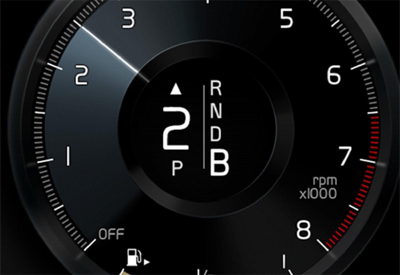 P5-1519-XC90 Hybrid gear shift indicator in DIM