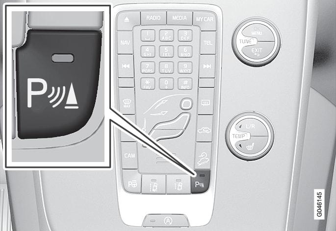 P4-1220-Parkeringshjälp På-/Av-knapp