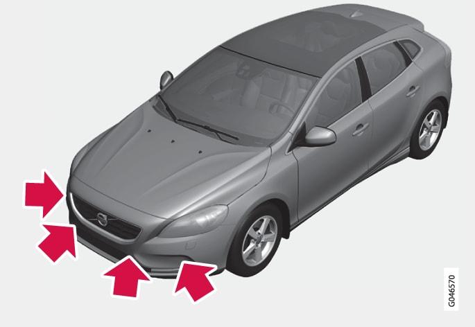 P4-1220-Parkeringshjälp Sensorer fram