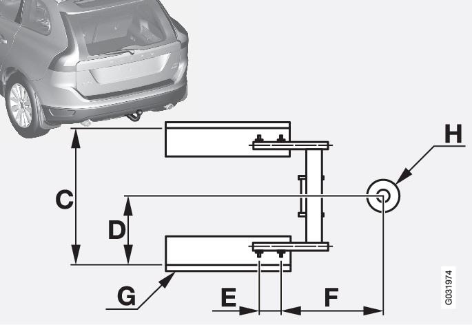P3-835-xc60 Tow hitch C-H