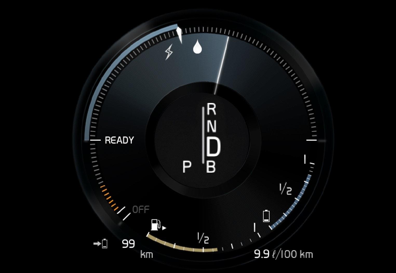 P5-1646-XC90H-Hybrid gauge combustion engine on