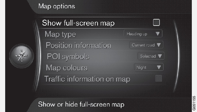 P3/P4-1420-IMAP-menu-Route options-full-screen-map