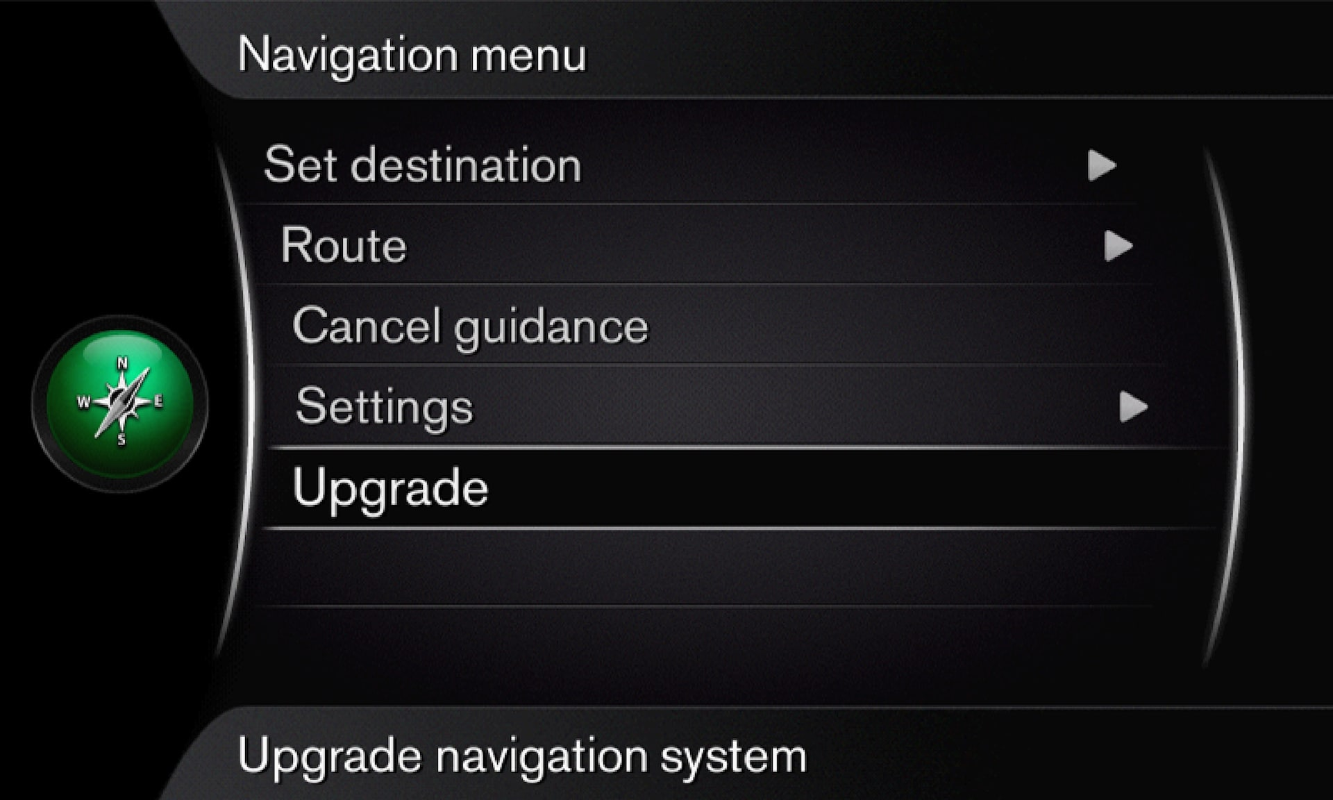 P3/P4 - Support site - Sensus Navigation menu - Upgrade navigation system
