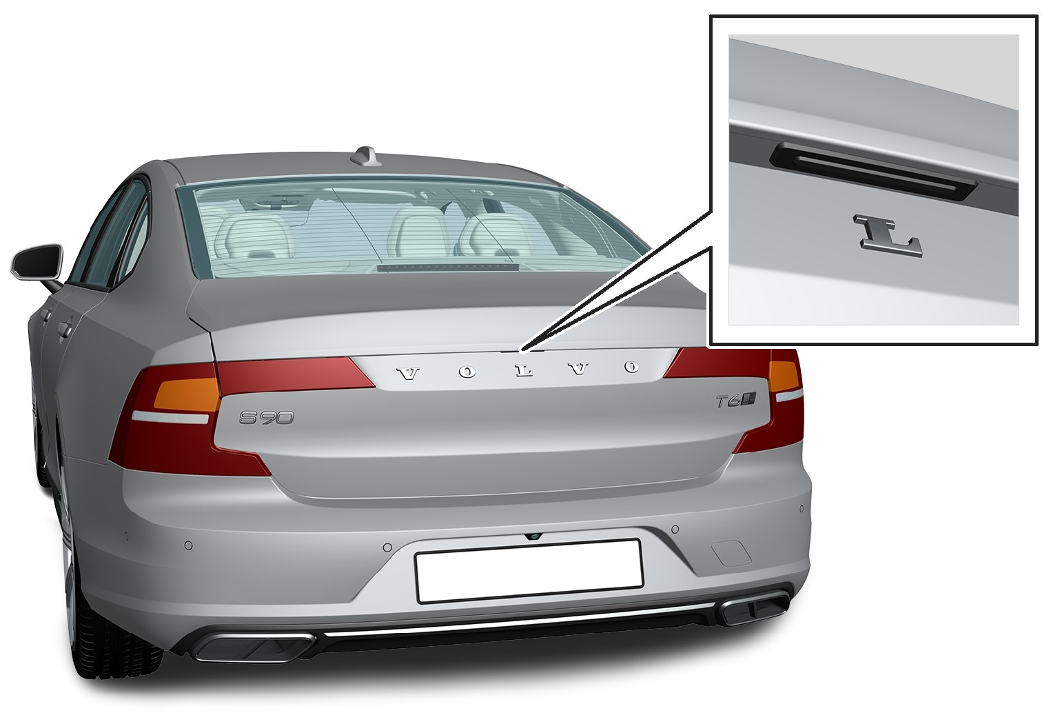 16w17 - SPA - S90 - Tailgate pointing out handle