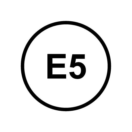 P5-1646-x90-Sticker E5 for petrol