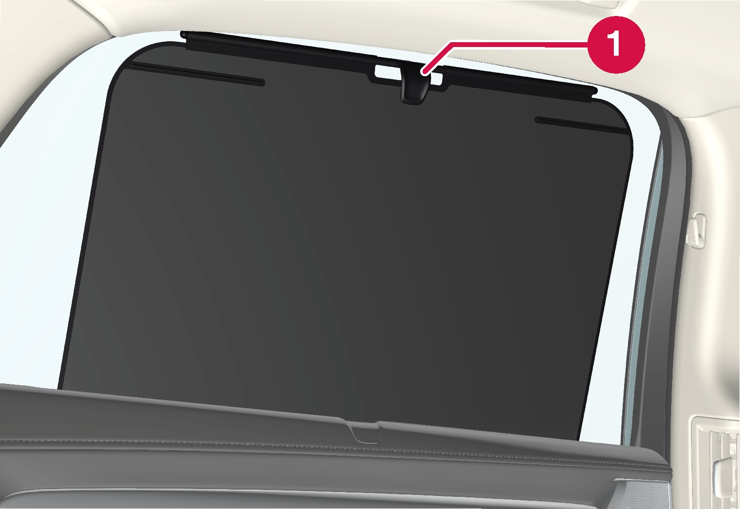 P5-1617-S90/V90 Sun curtain rear door
