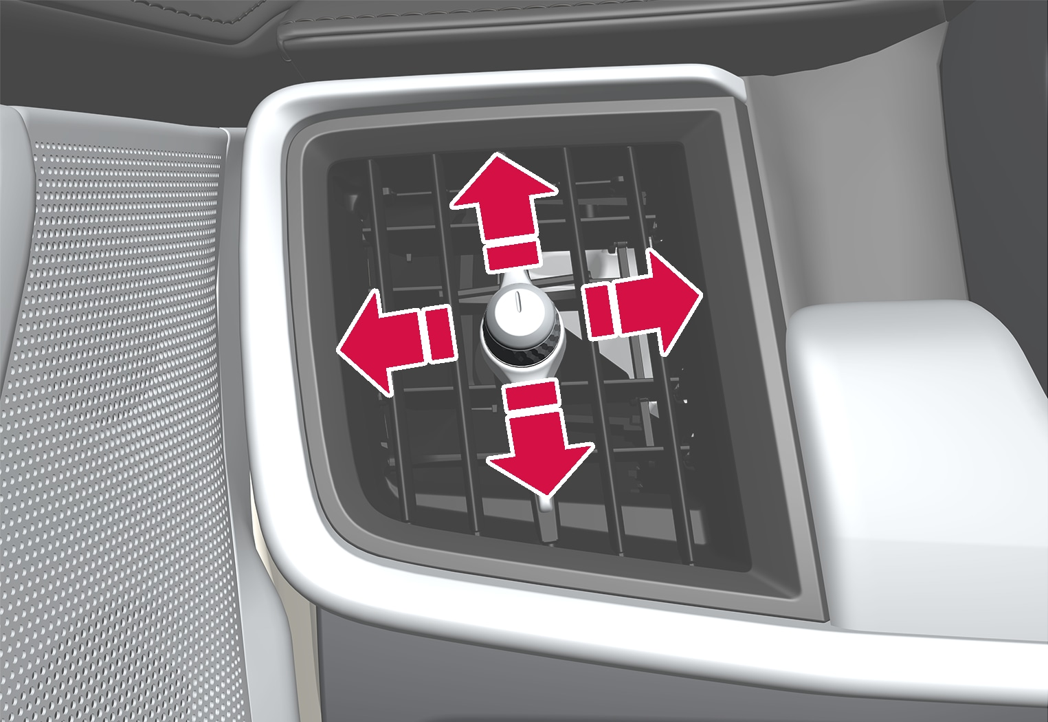 P5-1617-S90/V90–Climate–Air vent direction