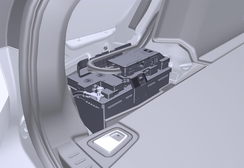 P5-1617-V90 Starter battery location