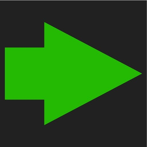P5-1507 Symbol Turn indicator right