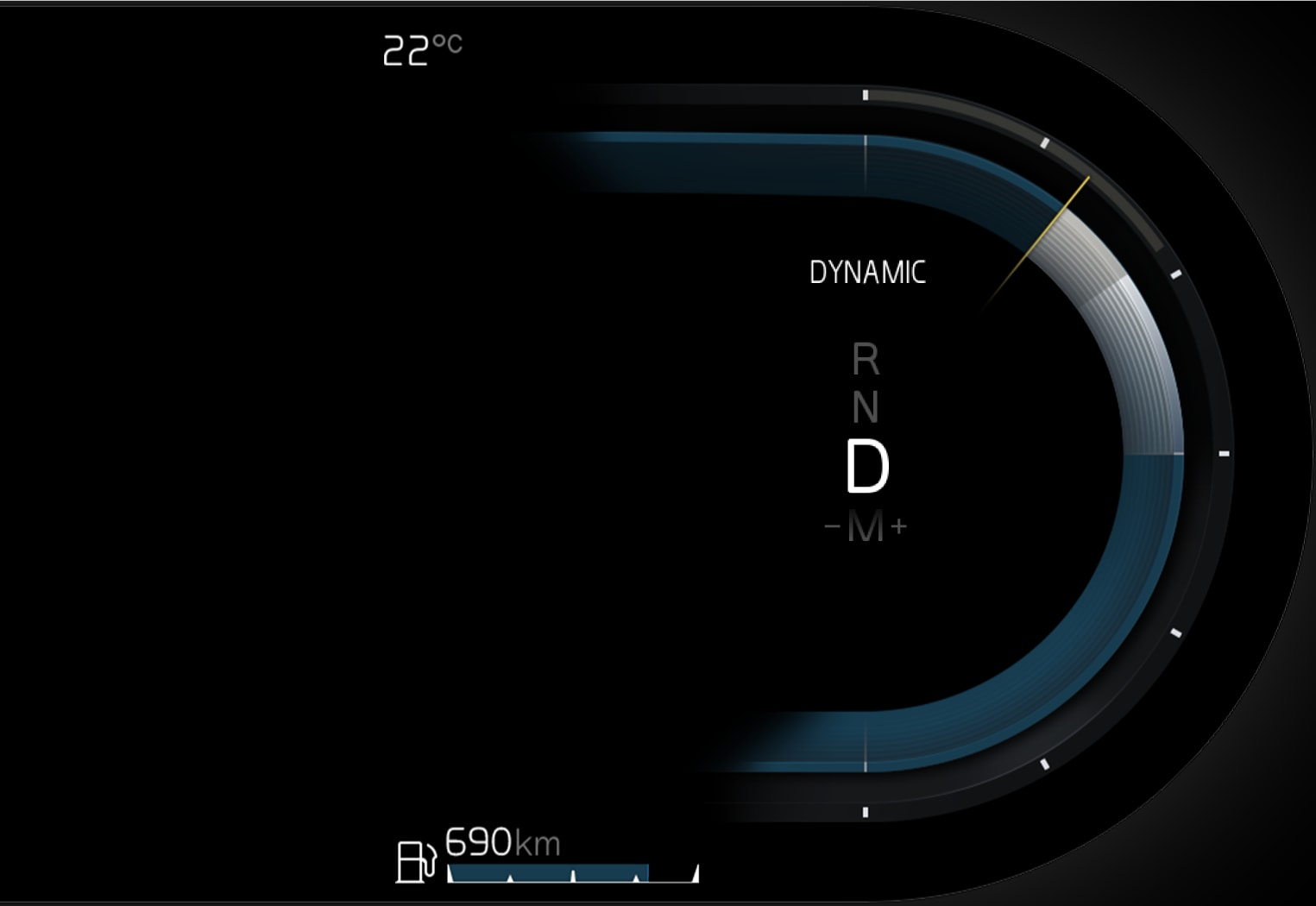 P5-21w22-iCup-Drive mode in driver display non hybrids
