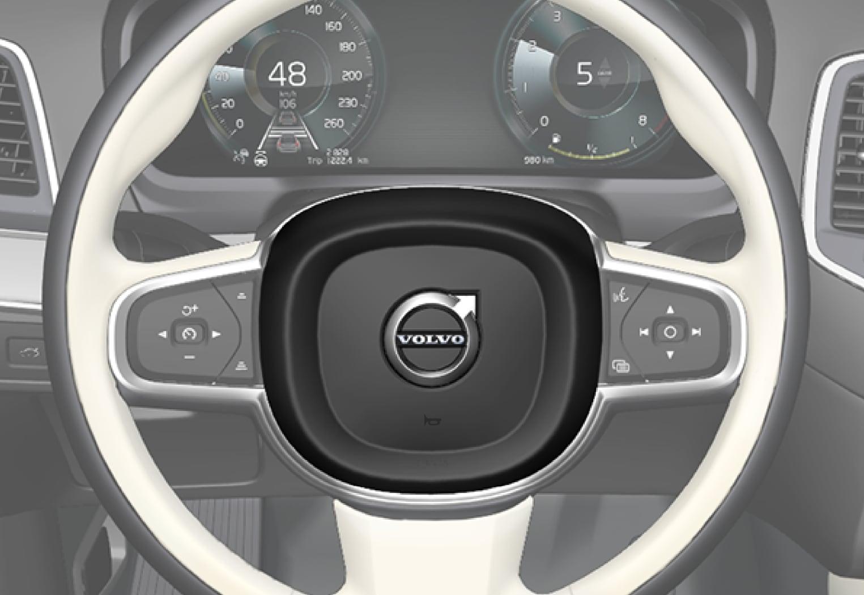 P5-1717-XC90+XC90H-Horn, steering wheel