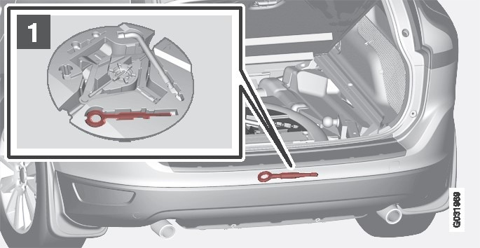 P3-835-xc60 Tow eyelet in Boot