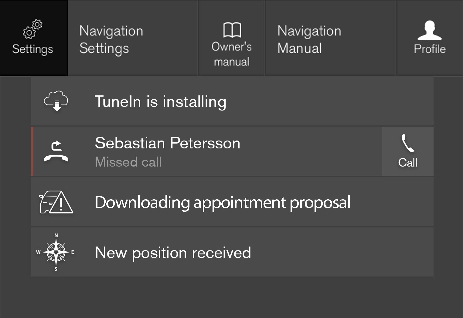 P6-17w46-Settings menu highlighted in top view