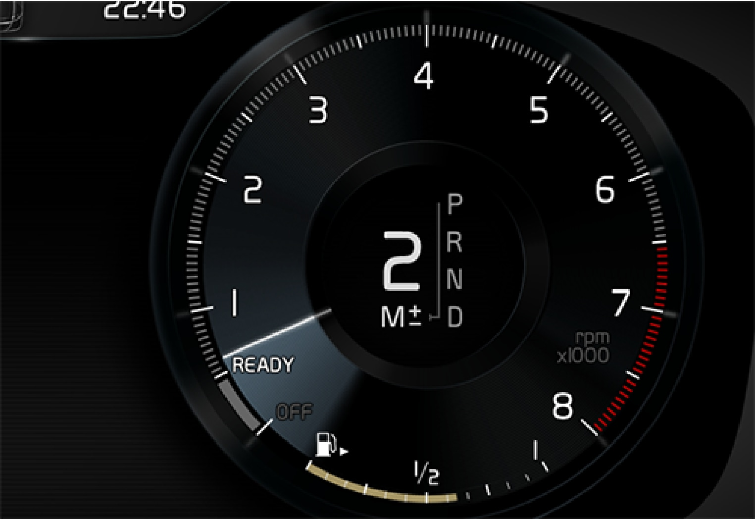 P5-1507-XC90- manual gear ind driver display