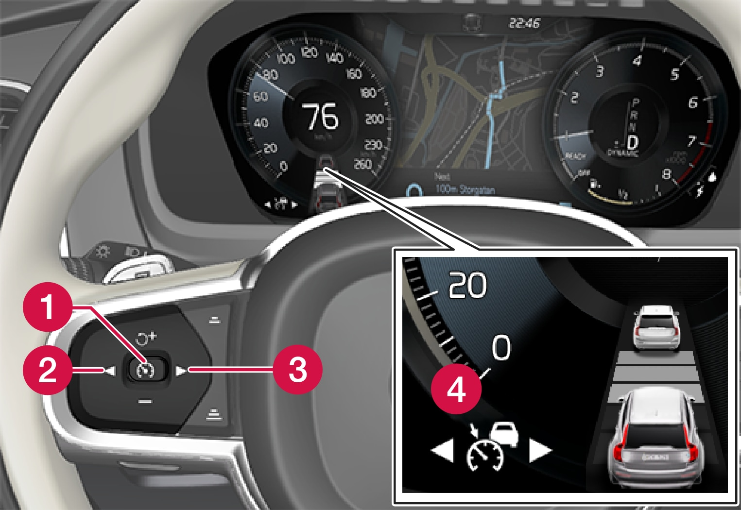 P5-1507-Adaptive Cruise Control, setting cruise control in standby mode