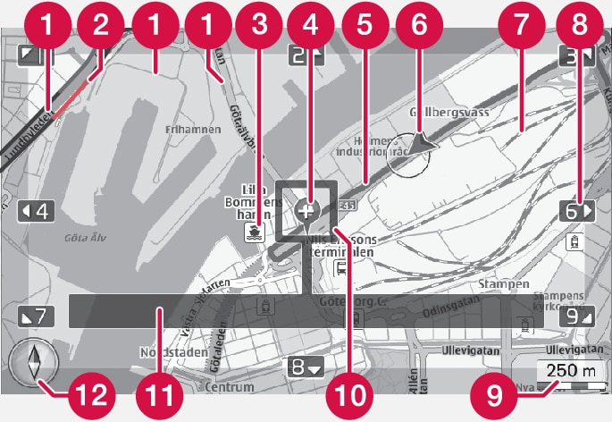 P3/P4-1220-Text and symbols on the map