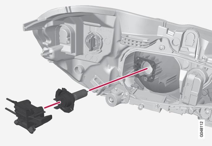 P3-1320-XC60 Halogen low beam bulb replacement