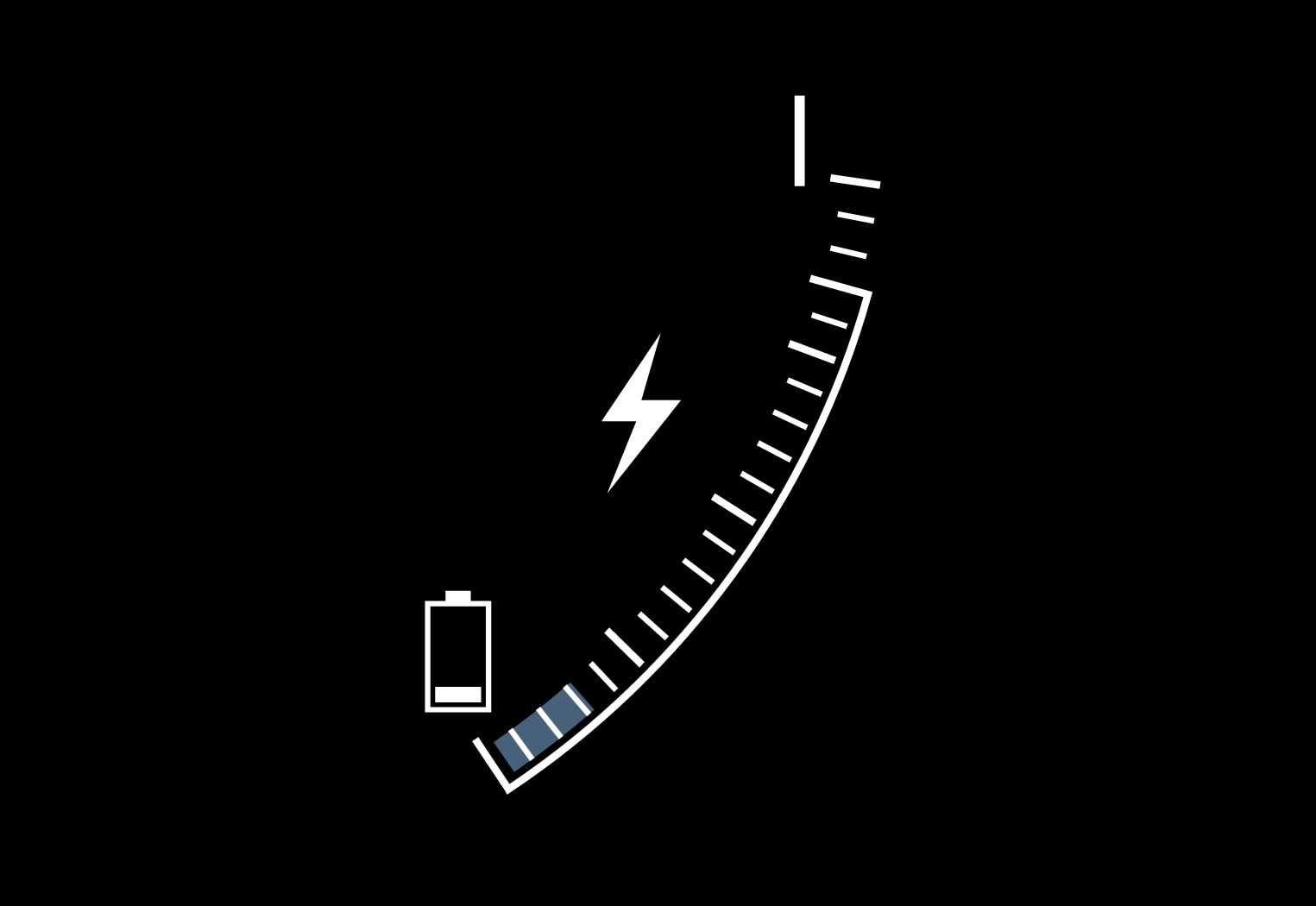 P5-1717-XC60H-CHARGE symbol in hybrid battery gauge