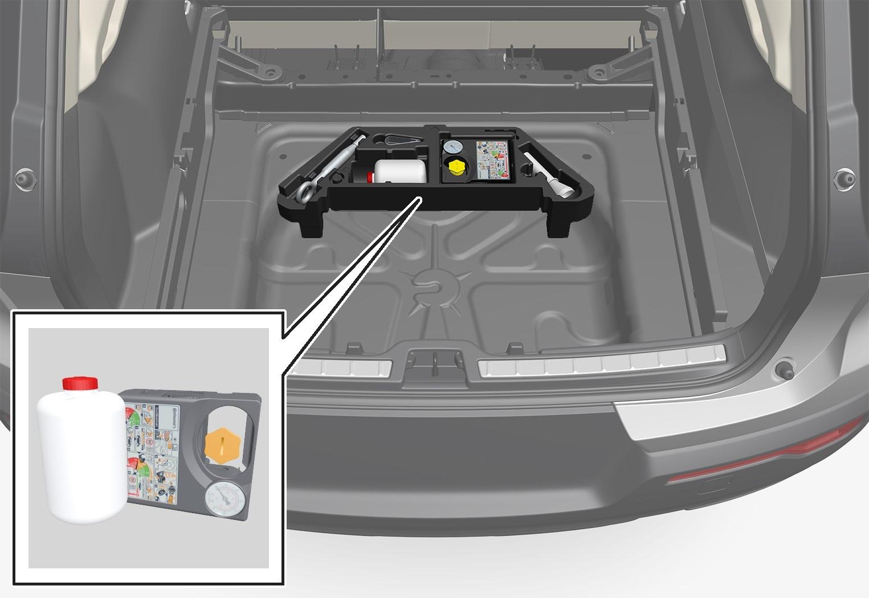 P6-1746-XC40-Temporary mobility kit, storage