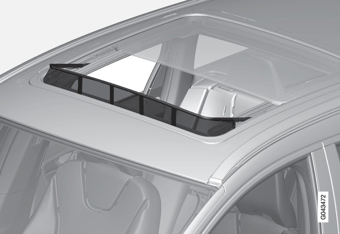 P3-1020-XC60 Wind deflector panoramic roof