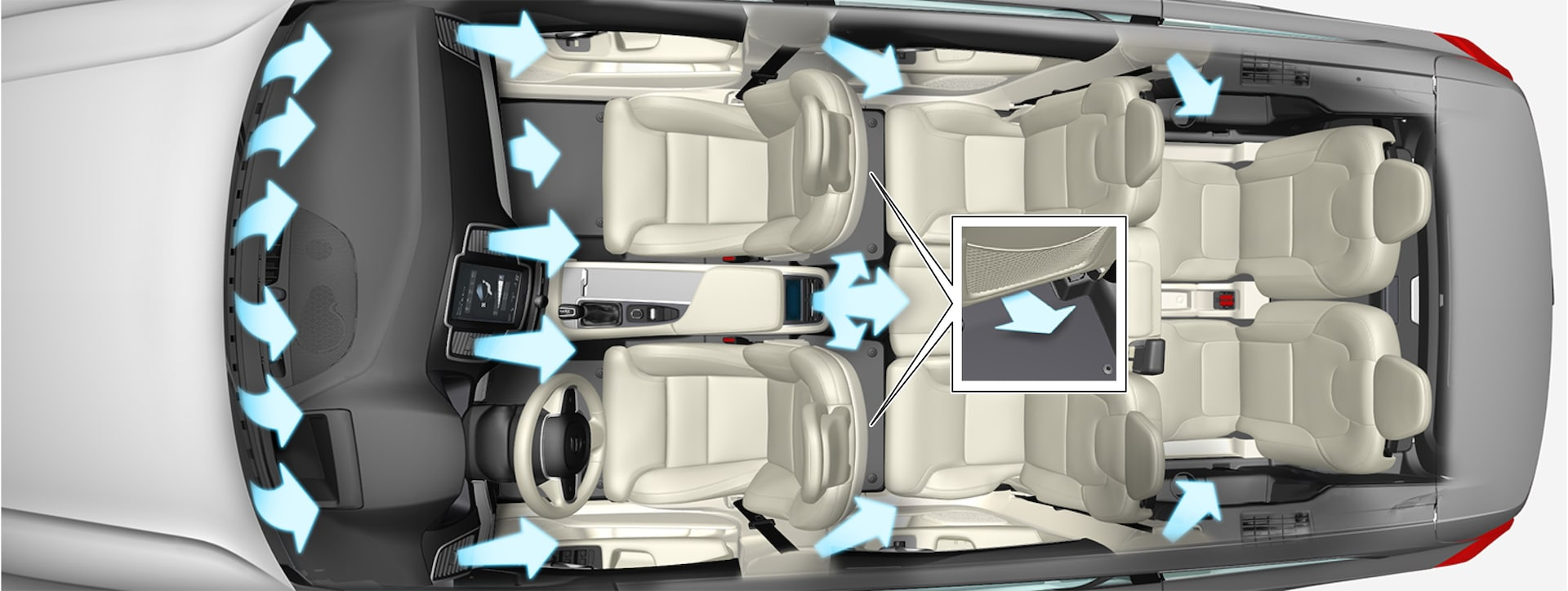 P5-1617-XC90/XC90H–Climate–Air distribution overview