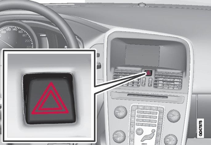 危险警示闪光灯按钮