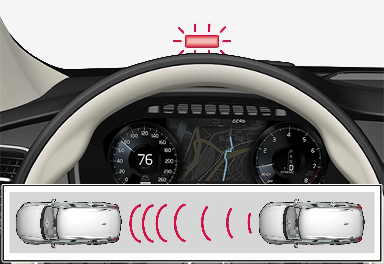 P5-1546-Distance Warning, warning light on the windscreen