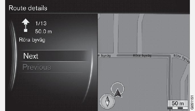 P3/P4-1420-IMAP-menu-Detailed route details