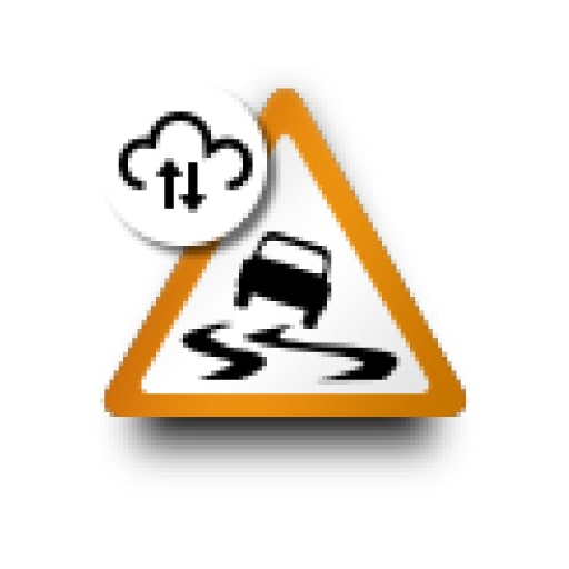 P5-2122-Connected Safety symbol Slippery Road