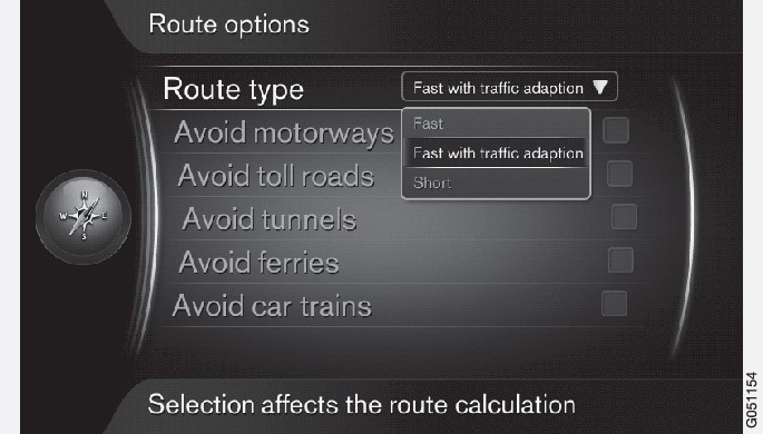 P3/P4-1420-IMAP-menu-Route options