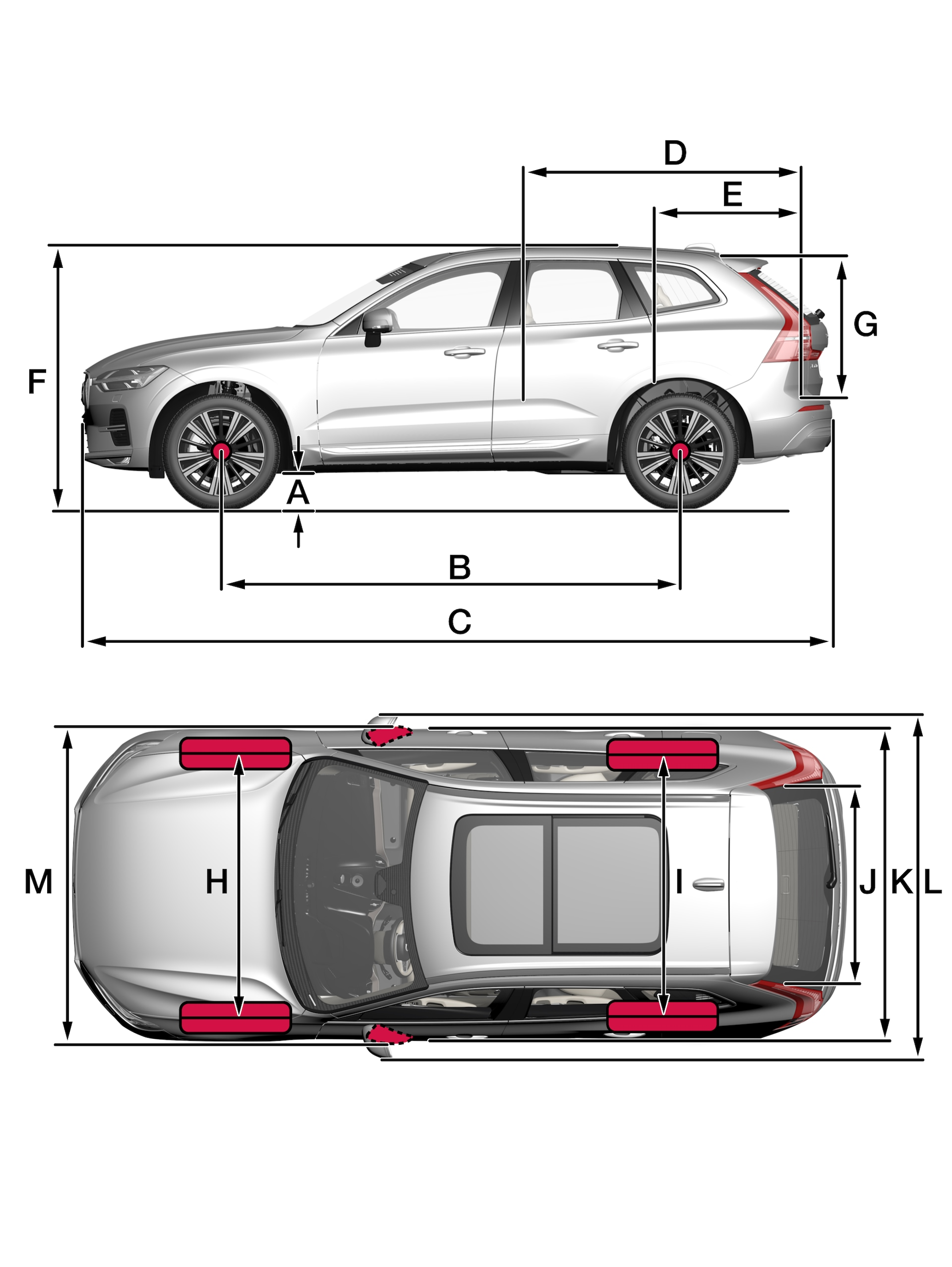P5-2122-XC60-Overview with measurements