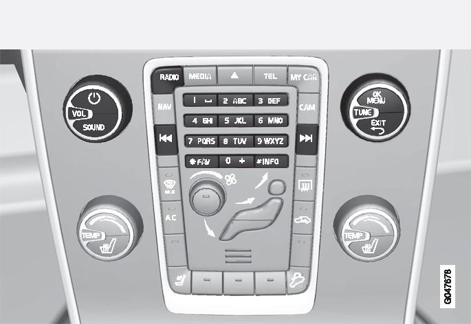 收音機功能的控制裝置。