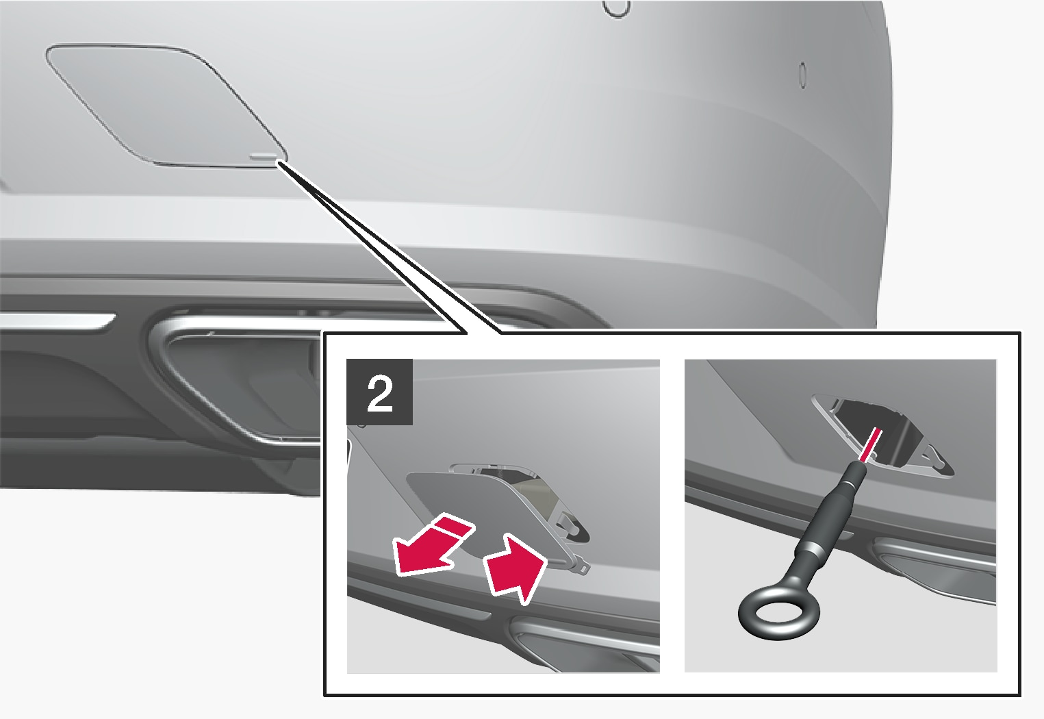 P5-1617-S90-V90-towing eye fitting rear step 3