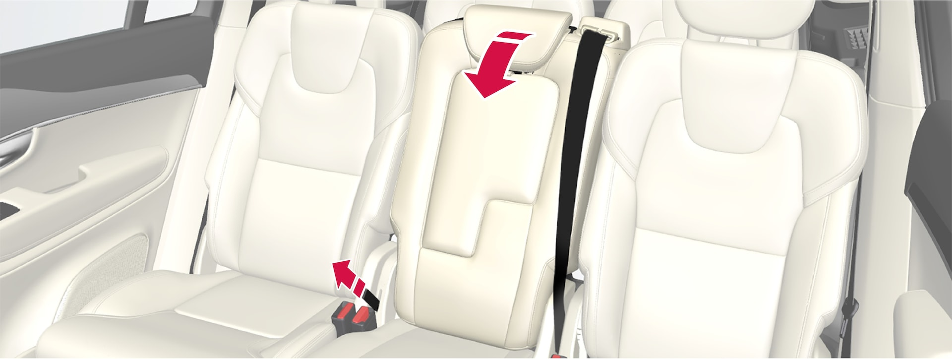 P5-1507-2nd seat row- Folding center seat with strap