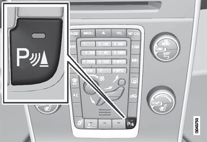 P3-sv60/V60H Parkeringshjälp På-/Av-knapp