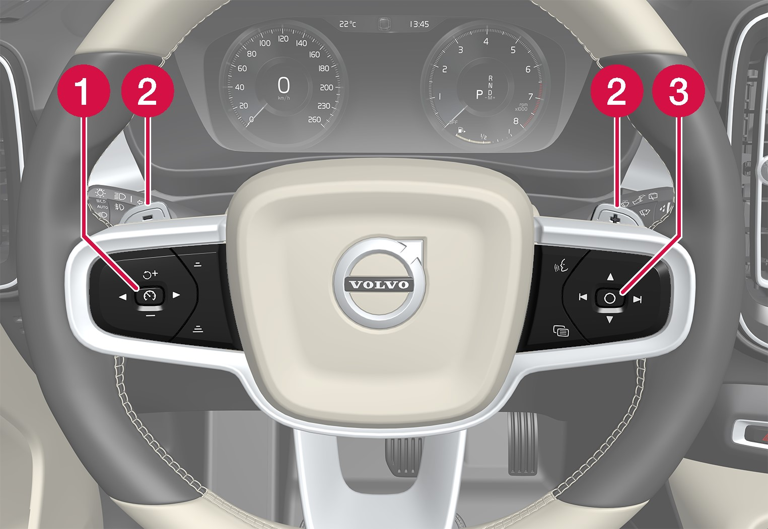 P6-XC40-steering wheel with numbering