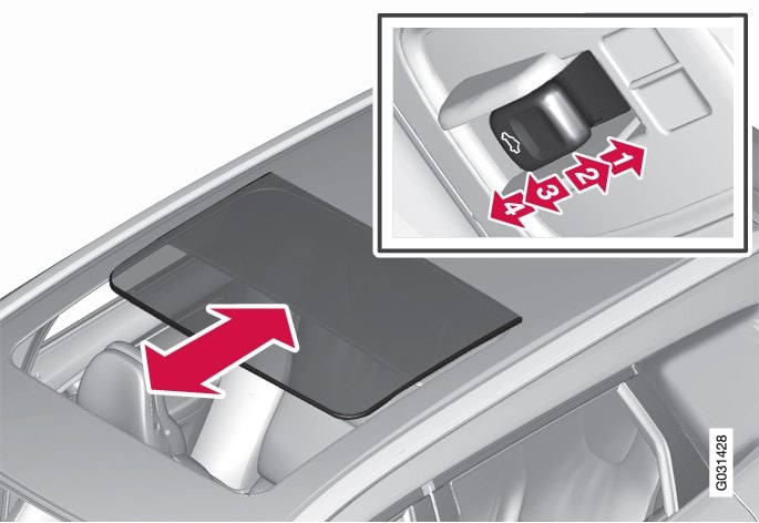P3-0835 XC60 Sliding panorama roof