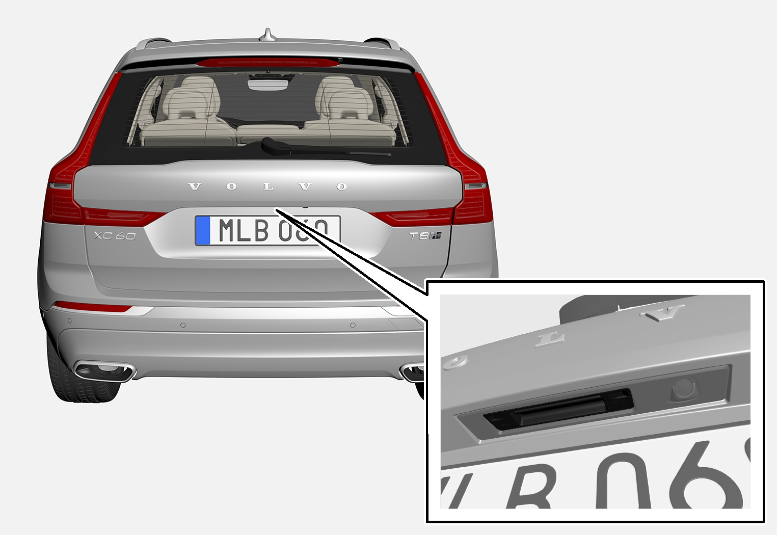 P5-1717-XC60-Tailgate pointing out handle
