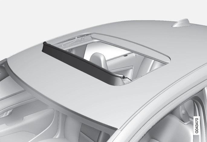 P3-1020-S80 Wind deflector moonroof