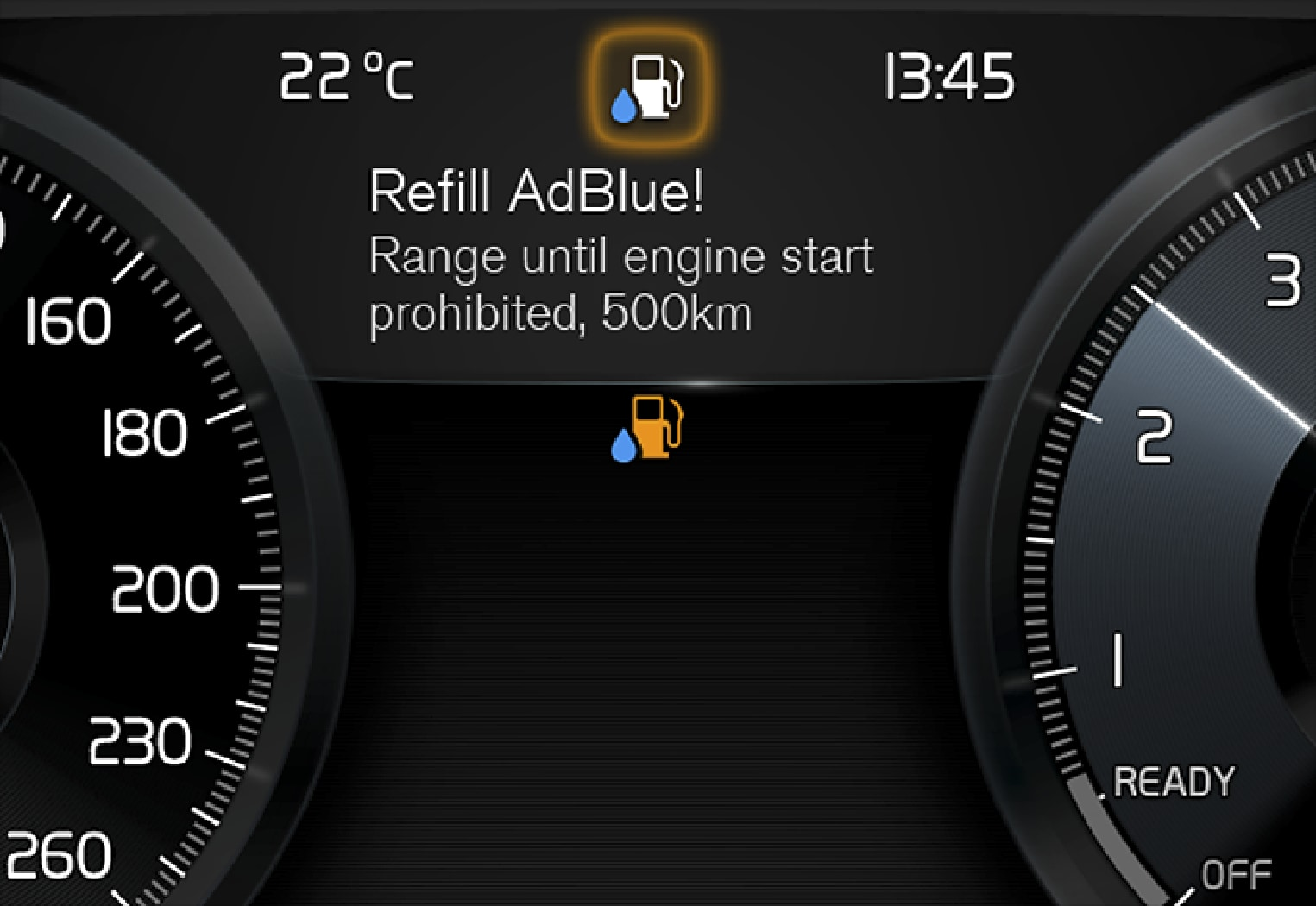 P5-XC60-1746-Adblue messages in driver display