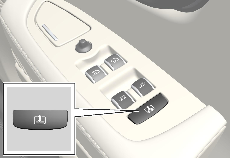 P5-1646-S90L Door control, rear blind