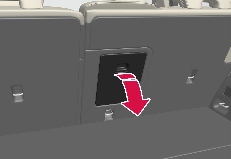 P6-1746-XC40-ski lid in rear seat backrest