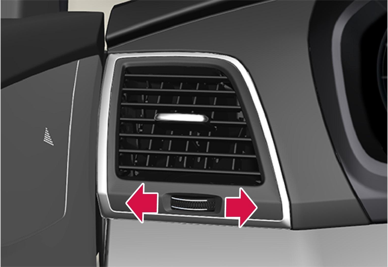 Ventilationsspjældets fingerhjulIllustrationen er skematisk, spjældets udformning varierer afhængigt af placering..