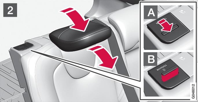 P4-1220-Y55X Folding outer head restraint