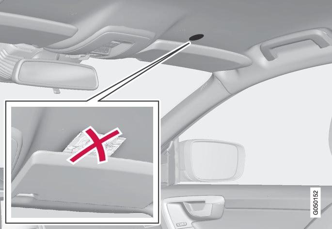 内置于车顶的麦克风 - 位置和数量可能随具体车型而异。