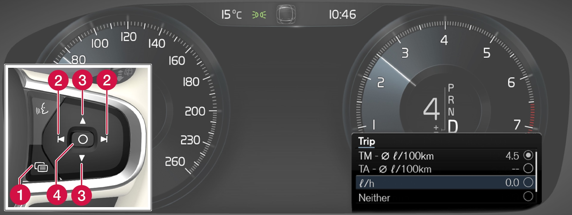 P5-1717-ALL-Trip computer navigation in driver display